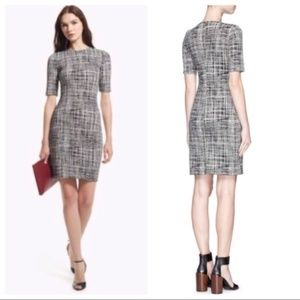 Theory Rijik B Dress - Configure Crosshatch Print